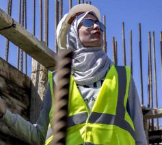 Vrouwelijke arbeider in Gaza © CIDSE