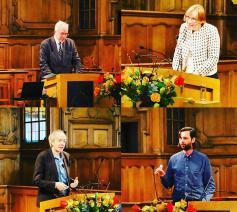 Bart Preneel, Lode Lauwaert, Esther Reed en Jan Wouters. © PCV