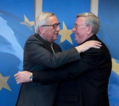 Commissievoorzitter Juncker en Comecevoorzitter Hollerich © Comece