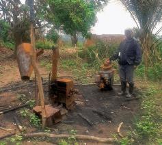 Een afgebrand dorp in de Kasai © Broederlijk Delen