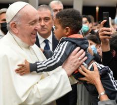 Paus Franciscus tijdens de audiëntie van vanmorgen © Vatican Media