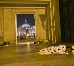 De temperaturen daalden in Rome tot vijf graden onder nul © SIR