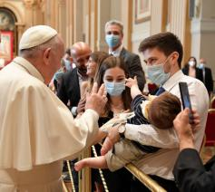 Paus Franciscus ontmoette diakens van bisdom Rome © Vatican Media