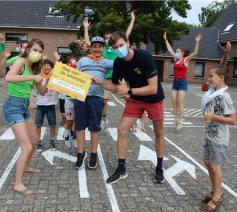 De winnaars van de Speelcheque © Jeugddienst Don Bosco