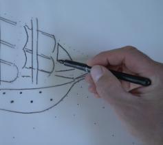 Videostill 'De driemaster' © Koen Van Loocke