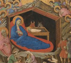 De geboorte van Christus met de profeten Jesaja en Ezechiël (1308-1311) ~ Duccio di Buoninsegna © Wikimedia Commons