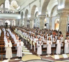 121 kinderen hebben hun eerste communie gedaan in Qaraqosh © VaticanMedia