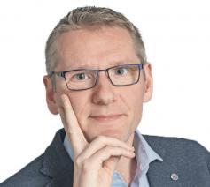 Emmanuel Van Lierde, hoofdredacteur van het christelijke opinieweekblad Tertio © Ilse Prinsen