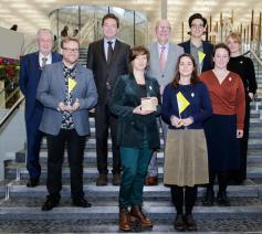 De winnaar en de laureaten van de Erfgoedprijs van de Provincie Antwerpen © Provincie Antwerpen