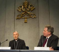 De voorstelling van Placuit Deo in Rome © SIR/Vatican Media