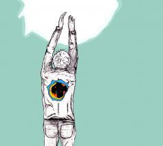 Geloven is ook gemis © Illustratie Tynke van Schaik