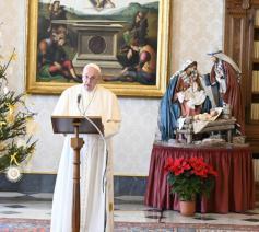 Paus Franciscus tijdens het angelus van zondag © Vatican Media