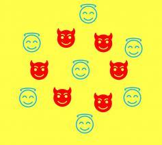 Goed en Kwaad en mijn eigen grote gelijk. Een schadelijk virus op sociale media. © Lieve Wouters