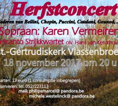 concert op 18 november 2017