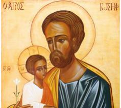 Icoon Jozef met kind © Traditions monastiques