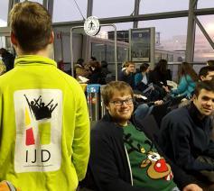 Op 28 december vertrokken 30 Vlaamse jongeren naar Riga voor de Europese Taizé-ontmoeting. © Heleen Deruytere