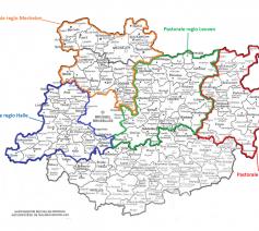 kaartje pastorale regio's