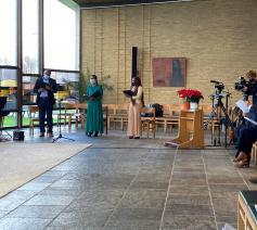Muzikant en zangers van The International R-C Community of Ghent © Bisdom Gent