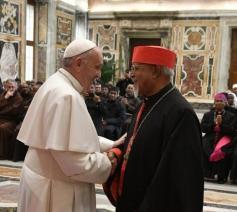Kardinaal-aartseparch Berhaneyesus Demerew Souraphiel en paus Franciscus © VaticanMedia