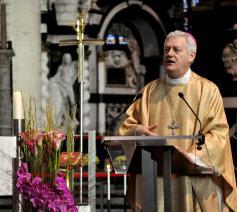 Mgr. Lemmens, hulpbisschop voor het vicariaat Vlaams-Brabant en Mechelen van het aartsbisdom Mechelen-Brussel en priester van het bisdom Hasselt. © Hans Medart