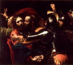 Michelangelo Merisi da Caravaggio, De gevangenneming van Christus, 1602 © Wikimedia Commons