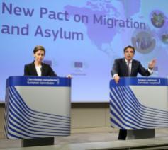 Voorstelling van het migratiepact © Comece/EP