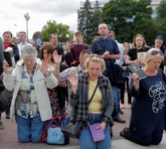 Processie voor de vrede in Minsk © Vatican Media
