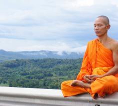 Boeddhistische monnik © publieke afbeelding