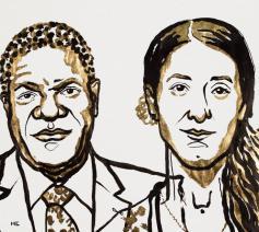 Denis Mukwege en Nadia Murad winnen de Nobelprijs voor de Vrede 2018. © Nobel Peace Prize Committee