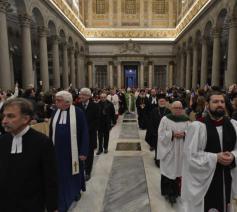 Ook de andere christelijke kerken waren vertegenwoordigd tijdens de oecumenische vesperdienst © Vatican Media