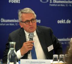Zdk-voorzitter Thomas Sternberg tijdens de kirchtentag © Persdienst Oekt