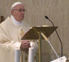 Paus Franciscus houdt homilie in Casa Santa Marta. © Vatican News