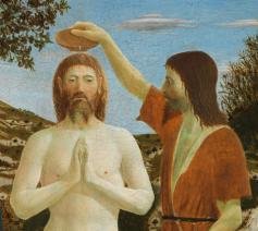 De doop van Christus ca. 1450 ~ Piero della Francesca (1416-1492) © Wikimedia Commons