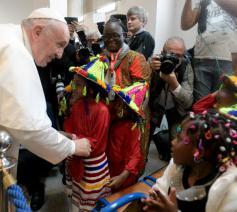 Er was ook tijd voor ontmoeting en gesprek © Vatican Media