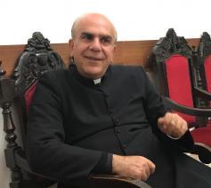 Jamal Khader, pastoor van de Heilige Familieparochie in Ramallah  © Benoit Lannoo