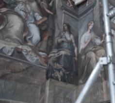 De restauratie in de Constantijnzaal © Vatican Media