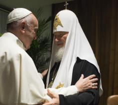Paus Franciscus en patriarch Kirill © OSR/SIR