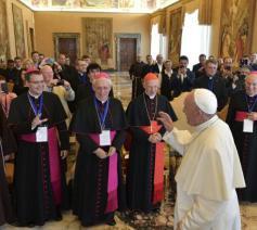 Paus ontmoet de roepingenverantwoordelijken © Vatican Media