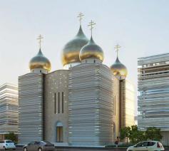 De nieuwe monumentale kathedraal © Wilmotte et Associé