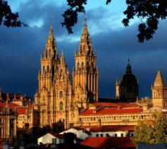 De basiliek van Santiago de Compostela © Santiago de Compostela