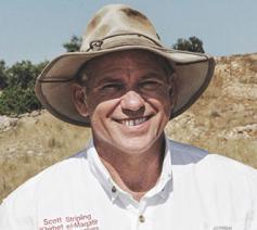 Scott Stripling heeft van zijn Indiana Jones hoed zijn handelsmark gemaakt © Scott Stripling