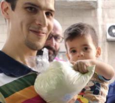 Syrisch gezin © Kerk in Nood