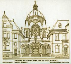 Eerste schets van het kerkgebouw