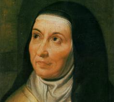 Teresa van Avila, schilderij Karmel Mechelen, foto © Carmelitana