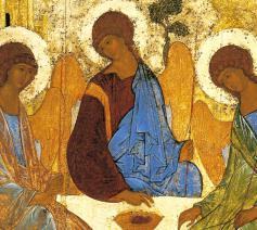 Heilige Drie-eenheid, Andrei Rublev, 15de eeuw