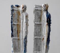 Keramische voorstudie voor 'Twins - Zwillinge' in Hannover © Johan Tahon