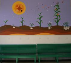 Guillermo Santillana maakt mural © Federatie Krekedal Kortemark