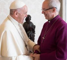 Paus Franciscus met de anglicaanse aartsbisschop Justin Welby © Vatican Media