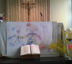 Wij hebben de kerk mooi versierd