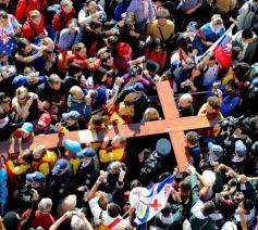 Het kruis van de werekldjongerendagen © Vatican Media